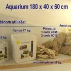 aquarium180x40: les décors utilisés